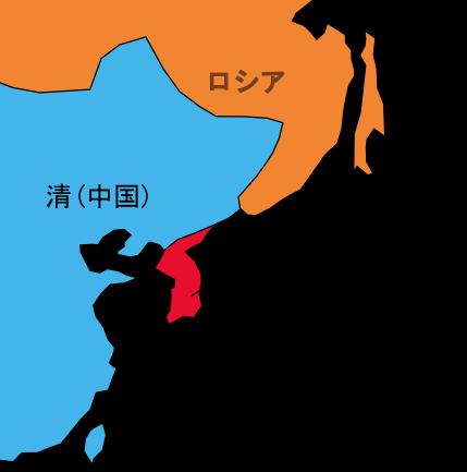 日清戦争・日露戦争の図(配置の地図)1